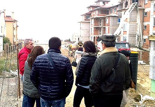 Участники тура Премиум Проперти на строительной площадке нового комплекса апартаментов