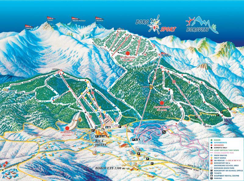 Карта трасс горнолыжного