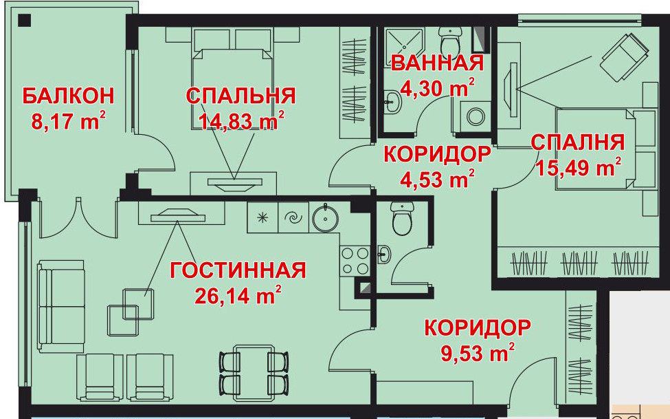 Apartment Plan Image